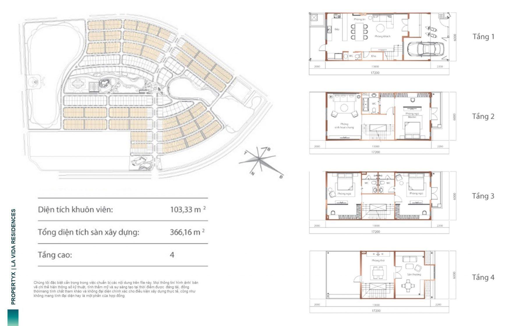 Mặt bằng thiết kế mẫu Nhà liền kế